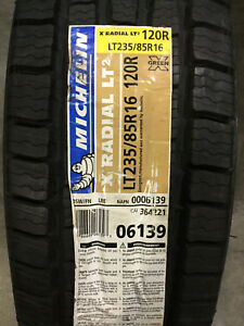 6 New Lt 235 85 16 Lre 10 Ply Michelin X Radial Lt2 Tires