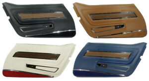 1970 1976 Corvette Deluxe Door Panels With Lower Carpet Strips New Pair
