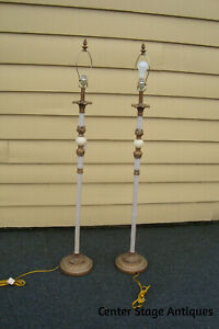 57141 Pair Floor Lamps With Shade S