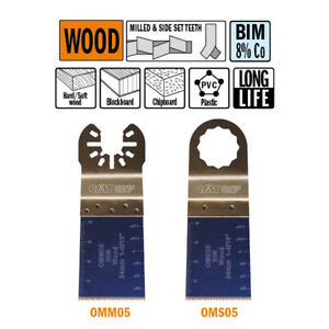 Cmt Omm05 x50 50 Pack 1 3 8 34mm Extra long Life Plunge Flush cut Wood