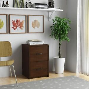 Cherry File Storage Wood Cabinet 2 Drawer Organizer Home Office Room Furniture