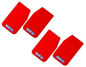 Sparco Universal front Rear Mud Flaps Guards 2 Pairs red 11 x18 5