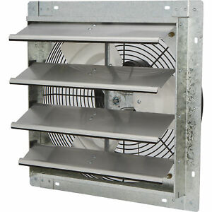 Strongway Enclosed Shutter Exhaust Fan16in 1 20 Hp 1 450 Cfm