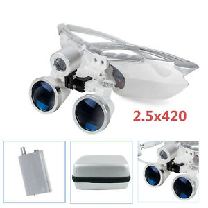 2017 2 5x 420 Surgical Dental Binocular Loupes Magnifer W Led Head Light case