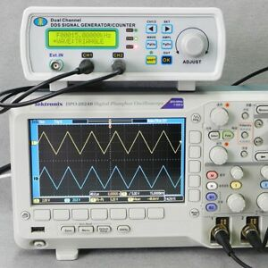Digital Dds Dual channel Signal Generator Source Frequency Meter Counter 25mhz