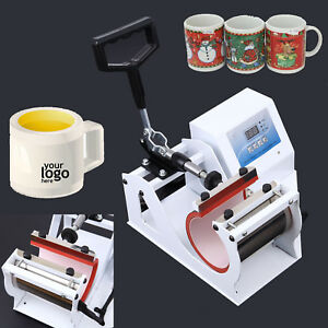 Auto Digital Display Heat Press Transfer Sublimation Machine For Cup Coffee Mug
