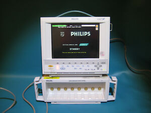 Philips M1204a M1205a V24ct Monitor W Rack