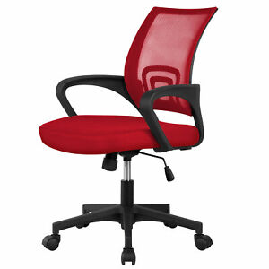 Ergonomic Mesh Office Chair Computer Desk Task Chair W Lumbar Support Red