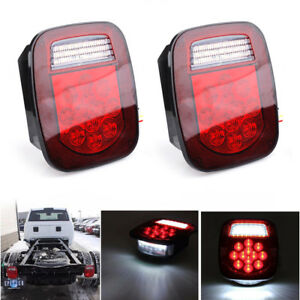 2x 39 Led Stop Turn Tail Reverse License Light For Truck Trailer Boat Jeep Tj Cj
