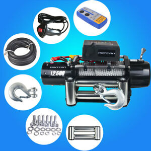 Classic 12500lbs 12v Electric Winch Towing Truck Trailer Steel Cable Offroad 4wd