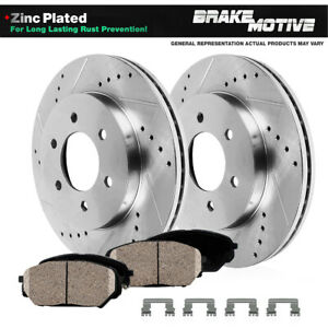 Front Drill And Slot Brake Rotors Ceramic Pads For 1997 1998 Dodge Dakota