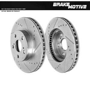 Front Drilled Slotted Brake Rotors For 2011 2013 Ct200h 2010 2014 Prius