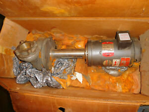 Gusher 11031nsb2 Centrifugal Water Pump 3 4hp Stainless 2 X 2 5 3ph