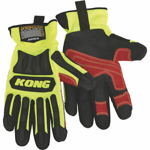 Ironclad Kong Men s High Visibility Rigger Impact Gloves Lime Medium