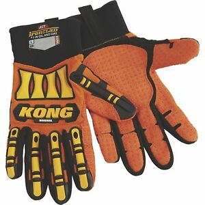 Kong Original Oil And Gas High Visibility Impact resistant Gloves Orange Small