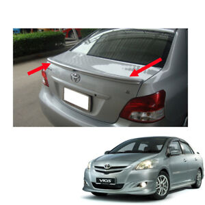 No Painted Rear Spoiler Trd For Toyota Vios Yaris Sedan Belta 2007 2013