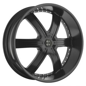 26 Inch 26x9 5 2crave No 4 Satin Black Wheel Rim 5x4 5 5x114 3 15