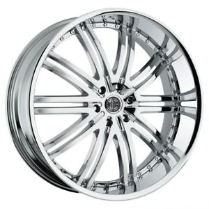 26 Inch 26x10 2crave No 11 Chrome Wheel Rim 5x5 5 5x139 7 15