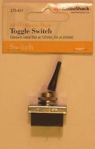 Radioshack 275 651 Spst Heavy duty Long Flat Lever Toggle Switch 6a At 250vac