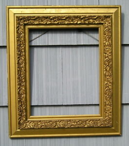 As Found Antique Aesthetic Eastlake Victorian Gold Gilt Picture Frame 16 X 20