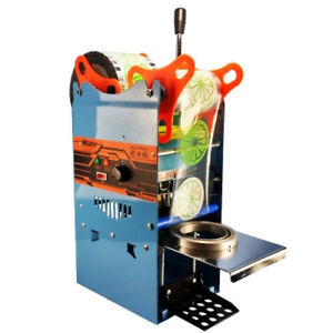 270w 220v Electric Automatic Plastic Drink Tea Cups Sealer Sealing Machine