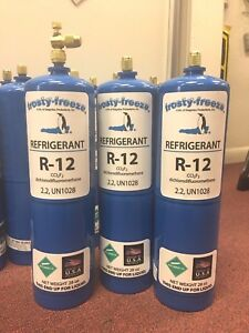 R12 Refrigerant 12 Virgin Pure R 12 3 28 Oz Cans On off Valve 5 25 Lbs