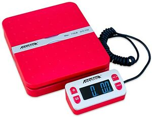 Accuteck Shippro W 8580 110lbs X 0 1 Oz Red Digital Shipping Postal Scale