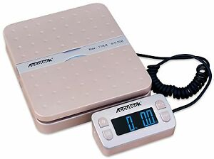 Accuteck Shippro W 8580 110lbs X 0 1 Oz Gold Digital Shipping Postal Scale