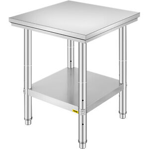24 x24 Commercial Stainless Steel Heavy Duty Food Prep Work Table Kitchen