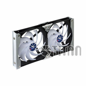 Titan 2x 120 Mm Muti Purpose Aluminum Rack Fan Kit Speed Controller Ttc sc09tz b