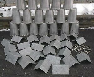 25 Maple Syrup Sap Buckets Pointed Lids Covers Taps Spouts Spiles