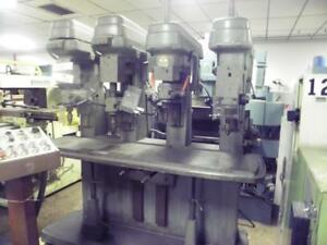Cincinnati 4 spindle Drill Press Drilling Machine
