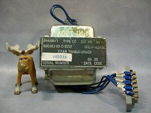 Titan Transformer 514496 1 Type Cc 200 Va