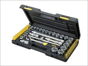 Stanley Sta285584 Microtough Socket Set Of 29 Metric 1 2in Drive