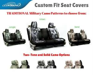 Traditional Military Camo Custom Fit Seat Covers For Honda Ridgeline