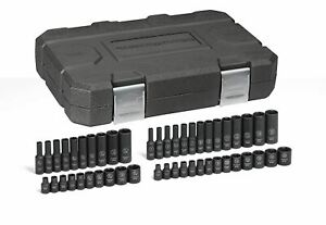 Gearwrench 48 Pc 1 4 Dr 6 Pt Standard Deep Impact Sae metric Socket Set 84902