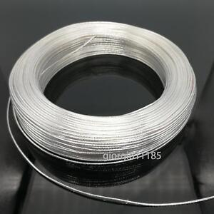 Us Stock 40 Feet 26 Awg High Temperature Ptfe Silver Plated Wire 0 12mm2
