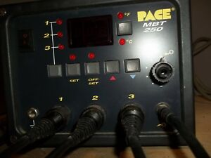 Pace Mbt 250 Pro Soldering Station Mfd Usa 1999 With 3 Solder Tools