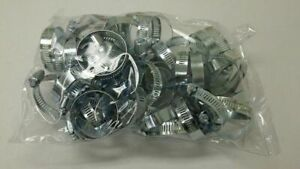 50pc Stainless Steel Hose Clamps 1 1 4 2 1 4 Radiator Heater Adjustable Band