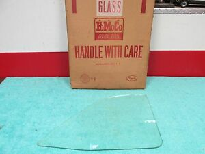 1957 58 Ford Fairlane 500 Convertible Clear Rear Quarter Glass Nos Ford 616