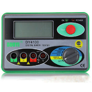 Dy4100 Digital Earth Ground Resistance Tester Meter Digital Earth Tester 0 20 20