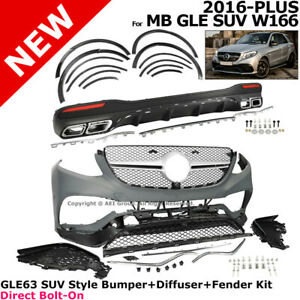 For Mercedes Benz W166 Gle Suv 16 17 Gle63 Amg Style Front Bumper Conversion Kit