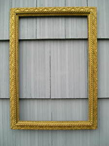 Rare Antique Aesthetic Eastlake Victorian Gold Gilt Pattern Picture Frame 16 24