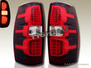 2007 2013 Chevrolet Avalanche Ls Lt1 Lt2 Lt3 Led Tail Lights Red Pair