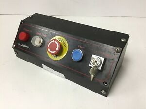Laser Control Panel With 2x Lights E stop Push Button And Key Selector Switch