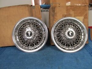 1978 79 Buick Regal 14 Wire Wheel Hubcap Wheel Covers Pair Nos Gm 1015