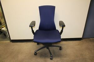 Herman Miller Embody Chair Fully Loaded Adjustable Ergonomic Office Blue Rhythm
