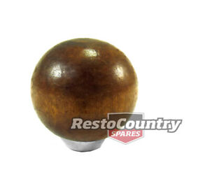 Universal Round Wood Gear Shift Knob Fits 1 2 3 8 5 16 Rod Holden Ford Hot Ro
