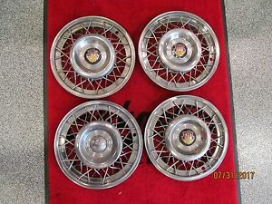 1950 1954 Oldsmobile 88 98 Mimetic Wire Wheel Cover Set Of 4 Gm 558838 Hubcap