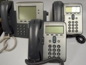 Cisco Ip Phones Lot Of 3 2 7911 And 1 7941 All Used